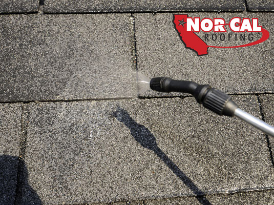 Nor-Cal Roofing - Pressure Washer and Garden Sprayer for residential roof shingle cleaning